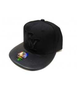 Casquette NY simili cuir
