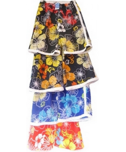 Short de bain homme tropical