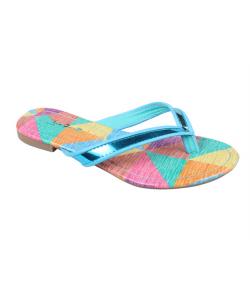 Sandale bicolore femme