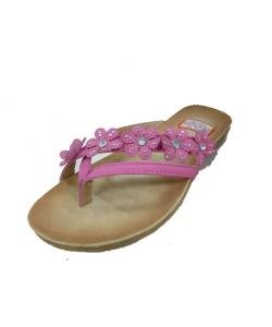 Sandale fleur strass