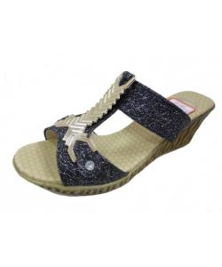 Sandale à talon ethnic