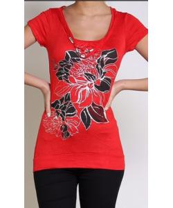 tshirt fleurie