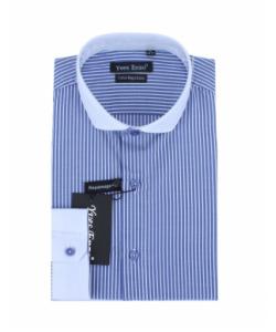 Chemise bleu rayé