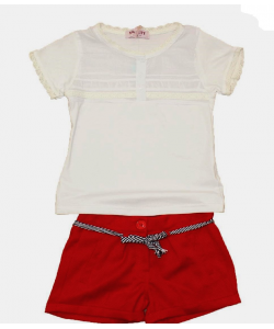 Ensemble tee shirt plus short