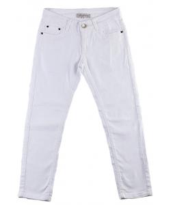 Jeans fille blanc slim