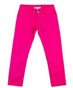 Jeans slim fille fushia