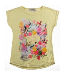 T-shirt fleure/animaux