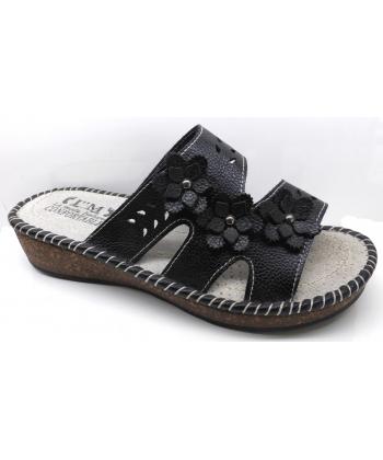 Sandale à fleure cuire