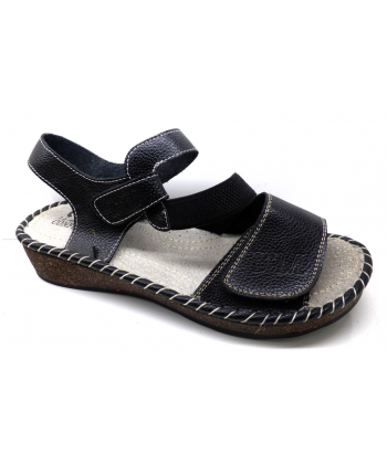 Sandale élastique cuir