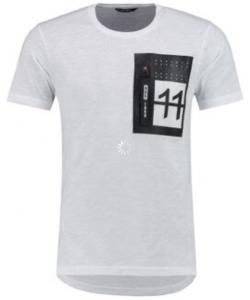 t shirt zip blanc