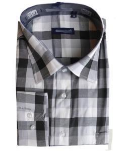 Chemise à carreau col italien