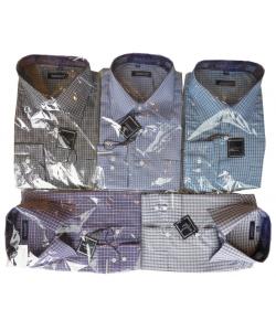 chemise petit carreaux col italien