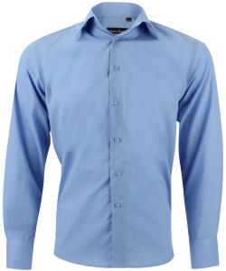 chemise unie bleu