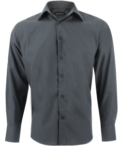 chemise unie gris foncé