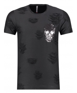 Tshirt strass troué