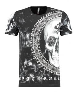 Tshirt Blackrock noir strassé