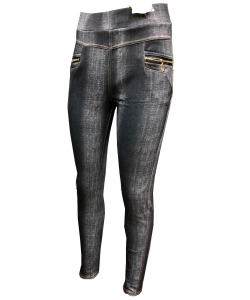 Jeggings zippé