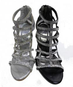 Sandale à talon strass