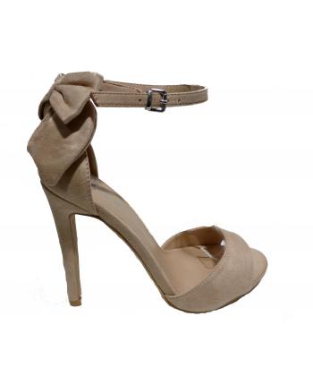 Sandale à talon nœud arrière