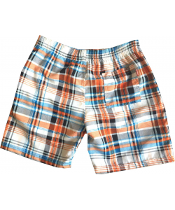 Maillot short enfant carreaux multi