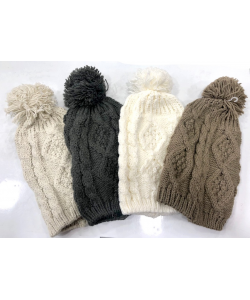 Bonnet Pompom tricot