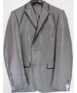 Costume cintré gris foncé