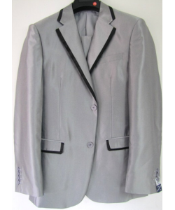 Costume cintré gris clair