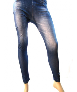Legging blue jeans