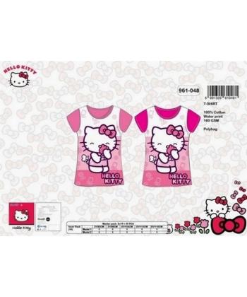 "Tee shirt ""Hello Kitty"" flowers"